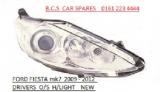 FORD FIESTA MK 7 HEADLIGHT / LAMP  2008+  DRIVERS SIDE CHROME
